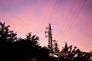 夕暮れ時の鉄塔の写真素材02