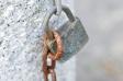 古びた南京錠の写真素材01