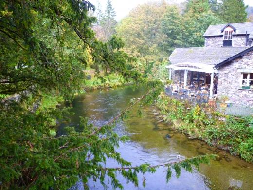 イギリス湖水地方のカフェの写真素材