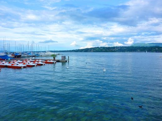 イタリアの海の写真素材