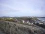 ウェールズの港町の写真素材