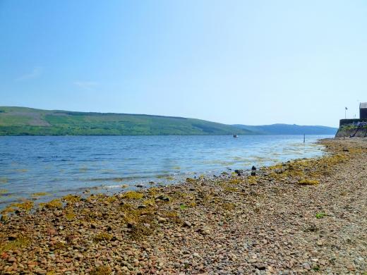 スコットランドの湖の写真素材
