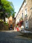 スコットランドの住宅街の写真素材