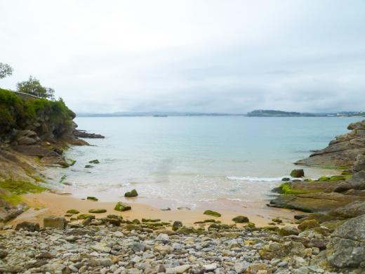 スペインの海の写真素材