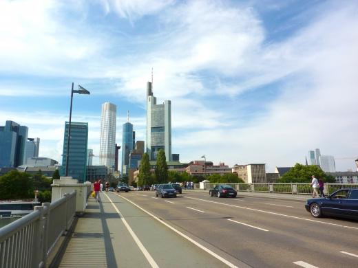 ドイツのビル街の写真素材