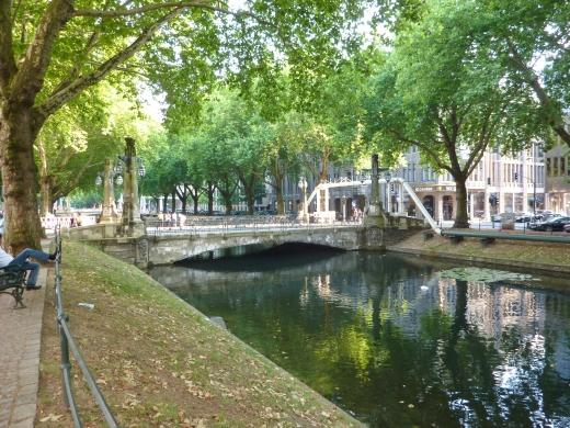 ドイツの川の写真素材