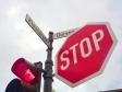 ストップの標識の写真素材