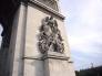 凱旋門の石像の写真素材