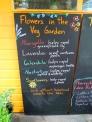 家庭菜園の黒板の写真素材02