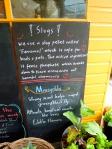 家庭菜園の黒板の写真素材03