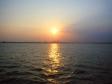 海からの初日の出の写真素材