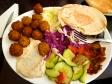 中東料理ファラフェルの写真素材