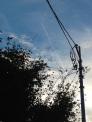 飛行機雲の写真素材01