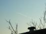 飛行機雲の写真素材03