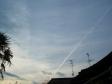 飛行機雲の写真素材04