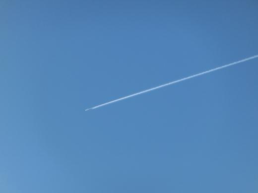 飛行機雲の写真素材05