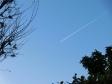 飛行機雲の写真素材06