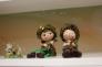 人形のオブジェの写真素材