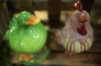 鳥のオブジェの写真素材