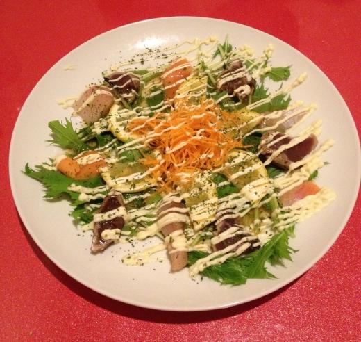 シーフードサラダの写真素材