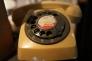 ダイヤル電話の写真素材