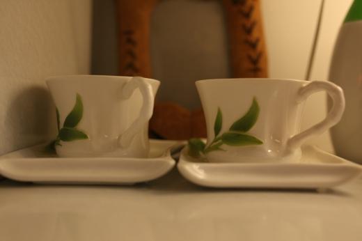 ティーカップ(ペア)の写真素材