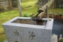 手水舎の水の写真素材04